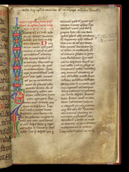 A Decorated Border, in Bede's 'Commentary on the Catholic Epistles'